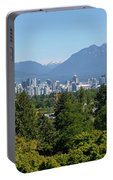 Vancouver Bc City Skyline From Queen Elizabeth Park Portable Battery Charger