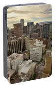 Vancouver Bc Cityscape Aerial View Portable Battery Charger