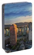 Vancouver Bc Cityscape At Sunset Portable Battery Charger