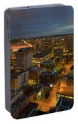 Vancouver Bc Cityscape During Evening Twilight Portable Battery Charger