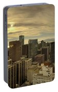 Vancouver Bc Cityscape During Sunset Portable Battery Charger
