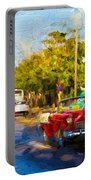 Vintage Cars In Varadero Portable Battery Charger