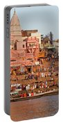 Varanasi From Ganges River Portable Battery Charger