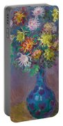 Vase Of Chrysanthemums Portable Battery Charger
