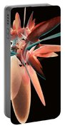 Vase Of Flowers Abstract Portable Battery Charger