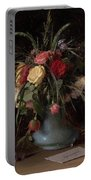 Vase Of Flowers And A Visiting Card Portable Battery Charger