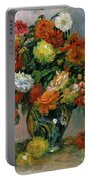 Vase Of Flowers Portable Battery Charger by Pierre Auguste Renoir