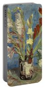 Vase With Gladioli And Chinese Asters Portable Battery Charger