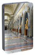 Vatican Museums Interiors Portable Battery Charger by Stefano Senise