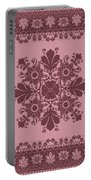 Vector Abstract Ethnic Shawl Floral Pattern Design For Backgroun Portable Battery Charger