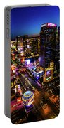 Vegas At Dusk Portable Battery Charger