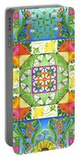 Vegetable Patchwork Portable Battery Charger