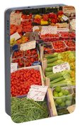 Vegetables At Italian Market Portable Battery Charger