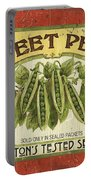 Veggie Seed Pack 1 Portable Battery Charger by Debbie DeWitt