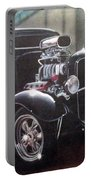 Vehicle- Black Hot Rod  Portable Battery Charger