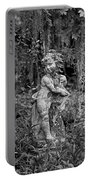 Veil Of Vines Black And White Portable Battery Charger