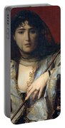 Veiled Circassian Lady Portable Battery Charger
