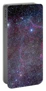 Vela Supernova Remnant In The Center Portable Battery Charger