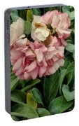 Velvet In Pink And Green Portable Battery Charger