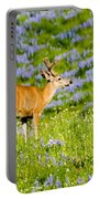 Velvet On Lupine Portable Battery Charger