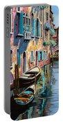 Venezia In Rosa Portable Battery Charger by Guido Borelli