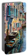 Venezia In Rosa Portable Battery Charger by Guido Borelli