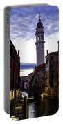 Venice Canal At Dusk Portable Battery Charger