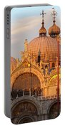 Venice Church Of St. Marks At Sunset Portable Battery Charger