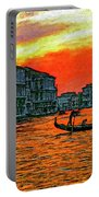 Venice Eventide Impasto Portable Battery Charger