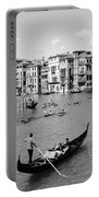 Venice In Black And White Portable Battery Charger
