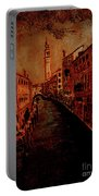 Venice In Golden Sunlight Portable Battery Charger
