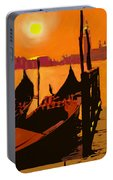 Venice In Orange Portable Battery Charger