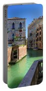 Venice Italy Canal And Lovely Old Houses Portable Battery Charger