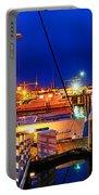 Ventura Harbor At Night Portable Battery Charger