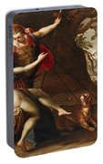 Venus And Adonis With Hounds Portable Battery Charger