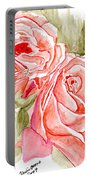 Vermilion Pink Roses Portable Battery Charger