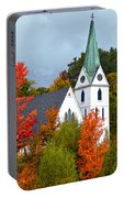 Vermont Church In Autumn Portable Battery Charger by Catherine Sherman
