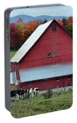 Vermont Cows At The Barn Portable Battery Charger