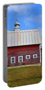 Vermont Farm Woodstock Vt Red Barn Portable Battery Charger