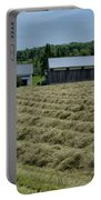Vermont Farmhouse With Hay Portable Battery Charger