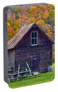 Vermont Garden Shed In Autumn Portable Battery Charger