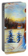 Vermont Log Cabin Maple Syrup Time Portable Battery Charger