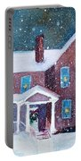 Vermont Studio Center In Winter Portable Battery Charger