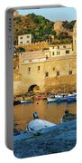 Vernazza, Italy, At Sunset Portable Battery Charger