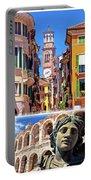 Verona Colorful Tourist Landmarks Postcard  Portable Battery Charger