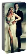 Veronica Carlson And Peter Cushing Portable Battery Charger