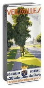 Versailles Travel Poster Portable Battery Charger