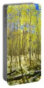 Vertical Aspen Forest Portable Battery Charger