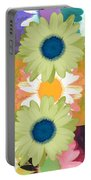 Vertical Daisy Collage II Portable Battery Charger