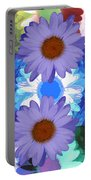 Vertical Daisy Collage Portable Battery Charger